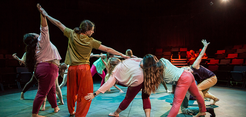 "Students perform in Luther College's 2018 Dance Production ""Soil Turning."""