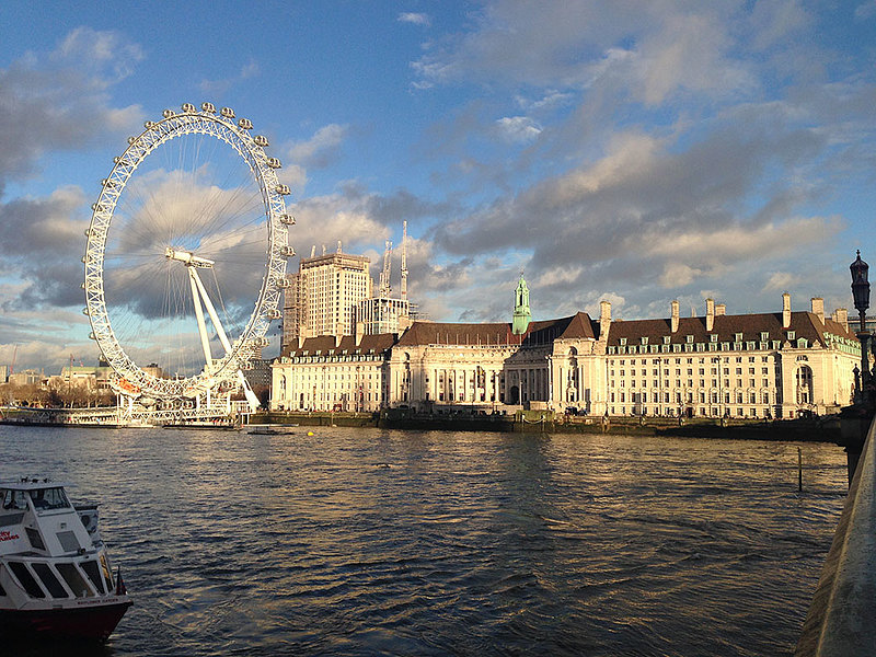 English major Violet Hatfield '18 spent J-term 2018 on the English Theatre: Mirror of Society and the Human Condition course that traveled to London, Stratford-Upon-Avon, and York in England and Edinburgh in Scotland. She took this photo of the London Eye while crossing the Thames.