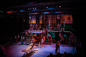 "Students participate in Jonathan Larson's ""Rent."""
