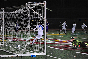 "Ben Keller Game Winner vs. St. Thomas - Photo by Jeff Nelson<a href=""/reason/images/840496_orig.jpg"" title=""High res"">∝</a>"
