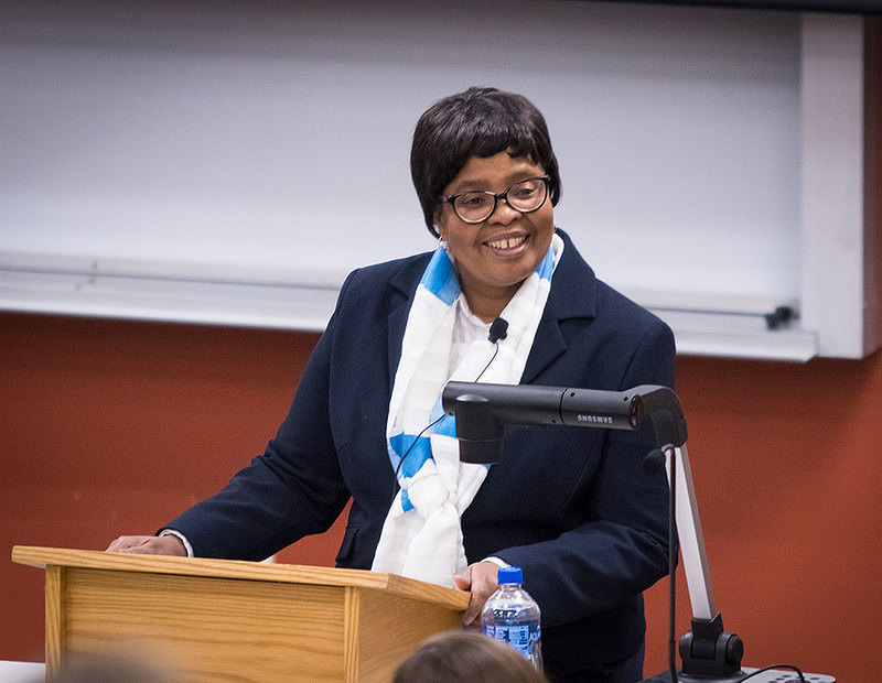 In November, Gaone Masire '82 visited Luther to deliver the Lucile Brickner Brown Price Lecture on women in leadership. She spoke about her long career as a leader in human resources, most recently as head of human resources for the African Union.