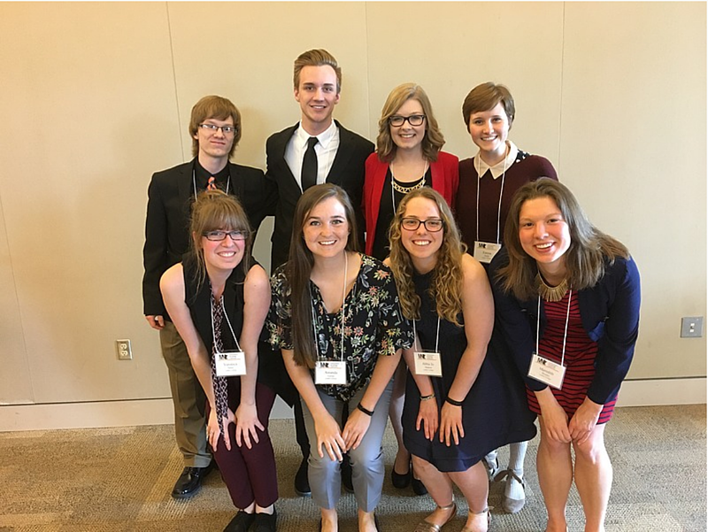 Continuing a long tradition of presenting student-faculty research from the lab, eight students presented their research projects at the spring 2017 Minnesota Undergraduate Psychology Conference in Northfield, Minn.