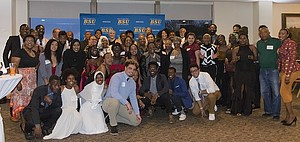 Luther students and alumni at the Black Student Union 50th Anniversary Gala, April 27, 2019.