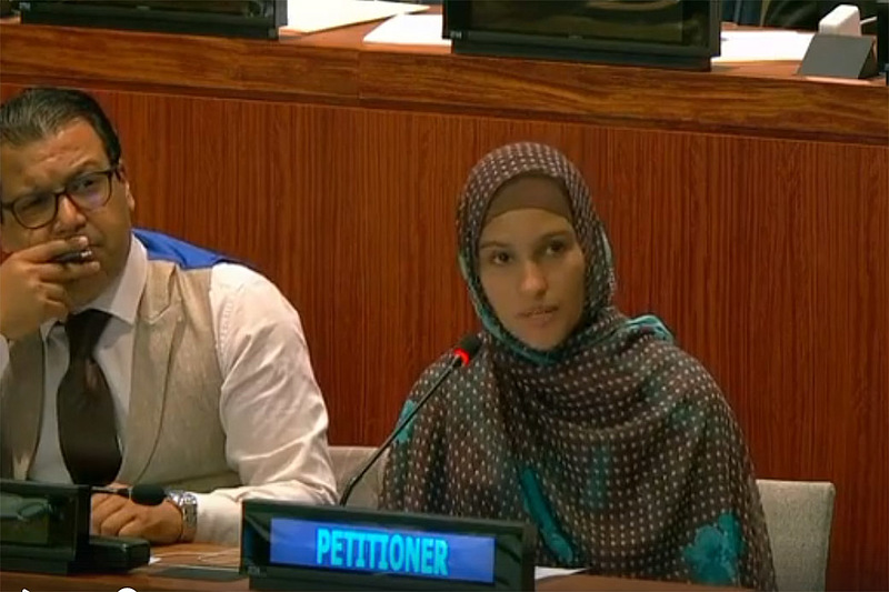 In October, Rabab Mohamed Nafe '22 petitioned the UN to let the people of Western Sahara vote on a referendum that would allow them self-governance in their own independent country.