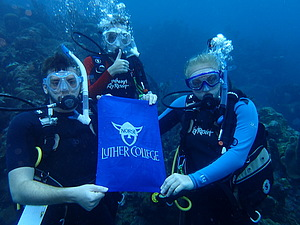 Luther students studied marine biology while SCUBA diving on the meso-American reef of Roatan.