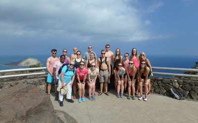 Luther faculty and students at the top of Makapu'u Point.
