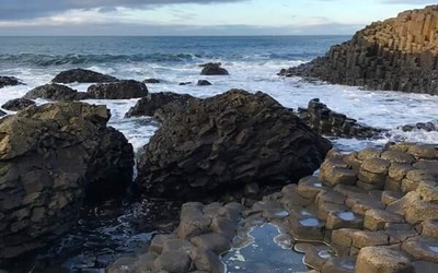 The rocks and seashore of Giant's Causeway