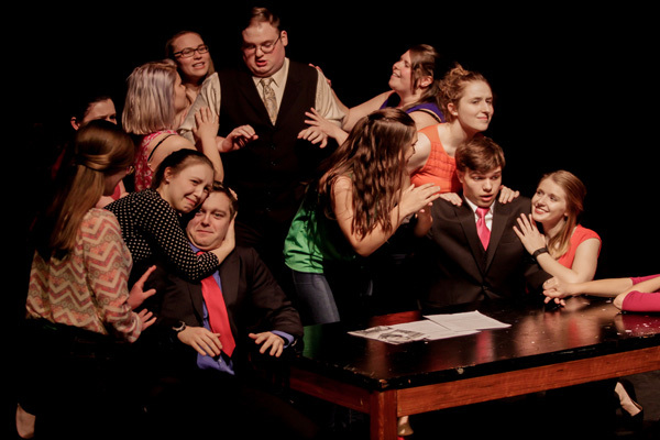 "Students perform in ""Legally Blonde Jr"" by Laurence O'Keefe."