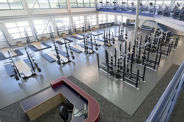 Main floor of Legends Fitness for Life Center.