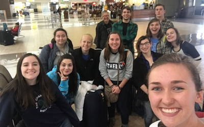 Our group of twelve at the airport after arriving in Phoenix