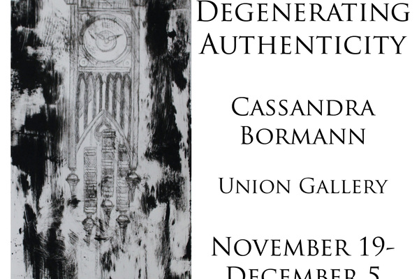 Cassie Bormann's ('13) first solo exhibition.