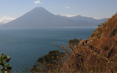Lago Atitlán, as seen from afar.