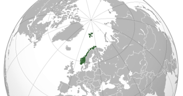 Norway's location on the globe.