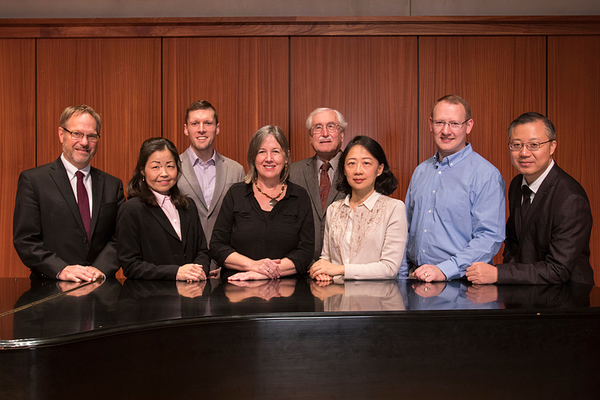 The Luther College keyboard faculty in 2019.