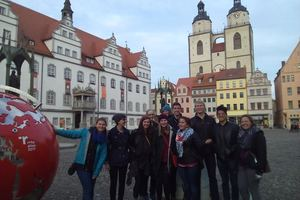 Luther Münster participants on a trip in Wittenberg, Germany.