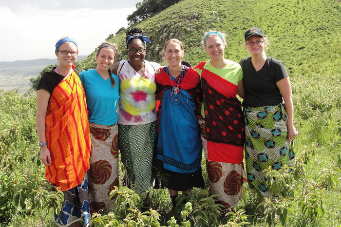 Luther students on J-Term in Tanzania with Professor Lori Stanley.