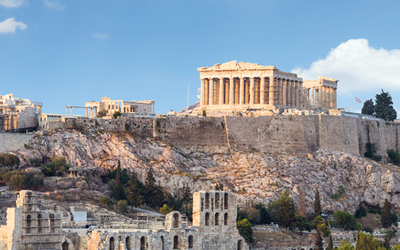 Skyline of Athens and the Parthenon