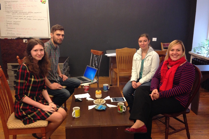 Brittany Anderson, '16, and Associate Professor Maryna Bazylevych conduct research about health and wellness among young women and men in contemporary Ukraine.