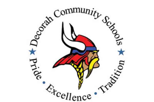 Decorah Community Schools logo.