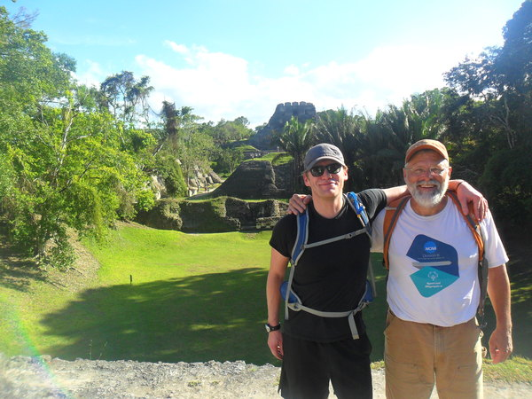 "Our amazing professors, Thomas Johnson and Jeff Boeke, take a framable picture from atop the Xunantunich Mayan Ruins.<a href=""/reason/images/743069_orig.jpg"" title=""High res"">∝</a>"