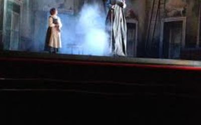 A scene from the opera. By the way, the fairy godmother in the normal story is a man!