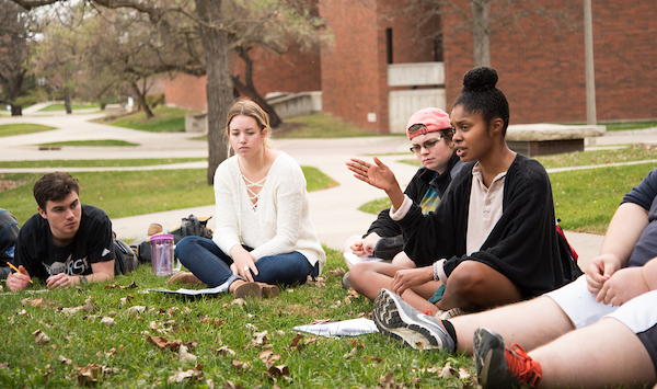 Students learn outside of the classroom on Luther's nearly 200 acre campus.