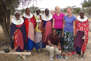 Annie Whiteley ('13) and Rachel Hodapp ('13) collaborate with Professor Lori Stanley to study Maasai traditional medicine in Tanzania.