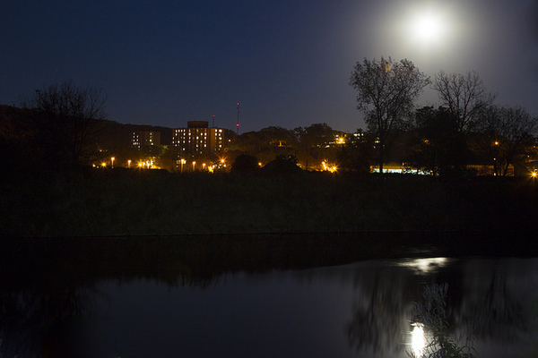 Full Moon Over Campus