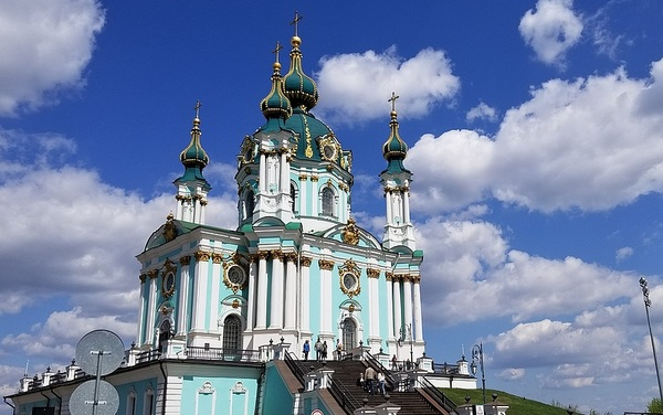 One of the many beautiful churches in Kyiv