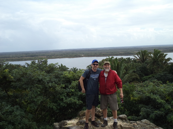 "Our fearless leaders on top of the Lamanai High Temple!<a href=""/reason/images/597112_orig.jpg"" title=""High res"">∝</a>"
