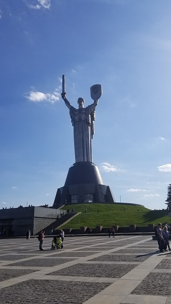 The motherland statue.