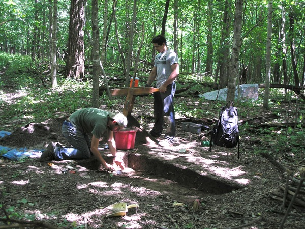 Northeast Iowa archaeology field school.