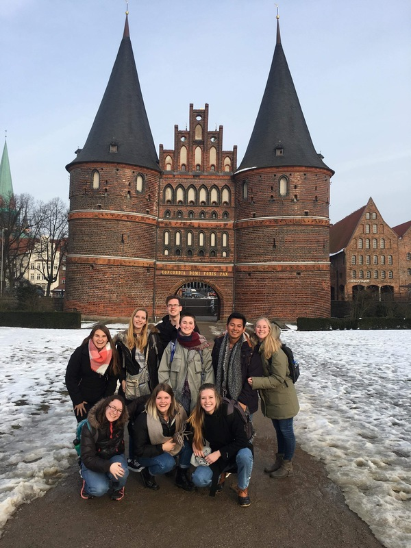 "The group in Lübeck in front of the Holsten Gate.<a href=""/reason/images/809121_orig.jpg"" title=""High res"">∝</a>"