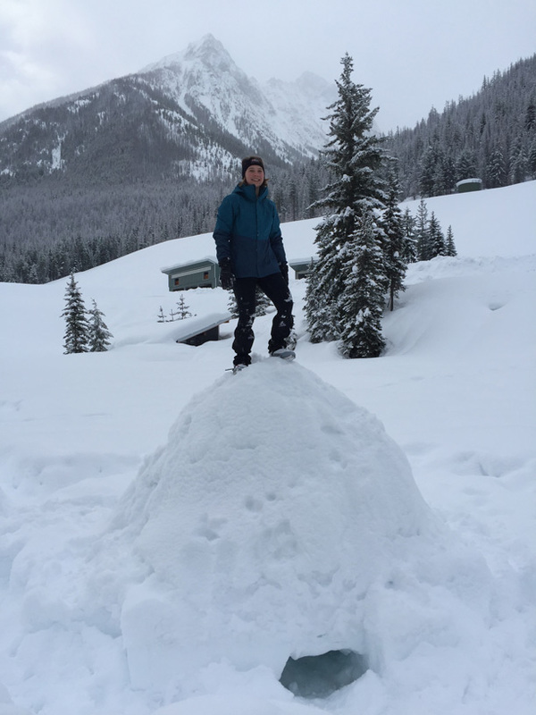 "Testing the structural stability of the igloo Abby, Eliza, Kristina, and I built by standing on top of it.<a href=""/reason/images/802125_orig.jpg"" title=""High res"">∝</a>"