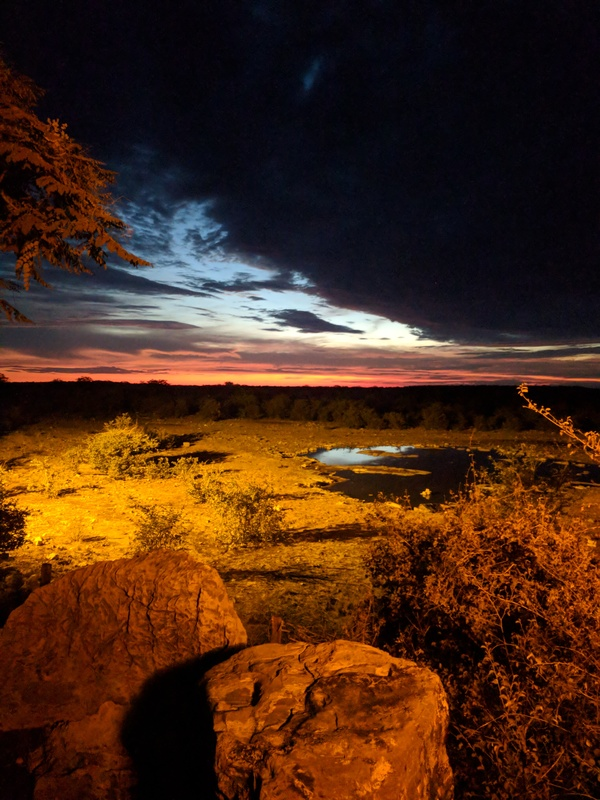"The view of an African sunset from the watering hole<a href=""/reason/images/801127_orig.jpg"" title=""High res"">∝</a>"