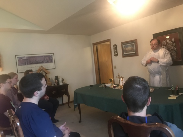 Mass at the rectory with Fr. Hertges
