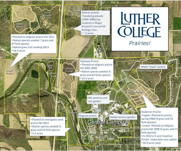 Luther College Prairies Map