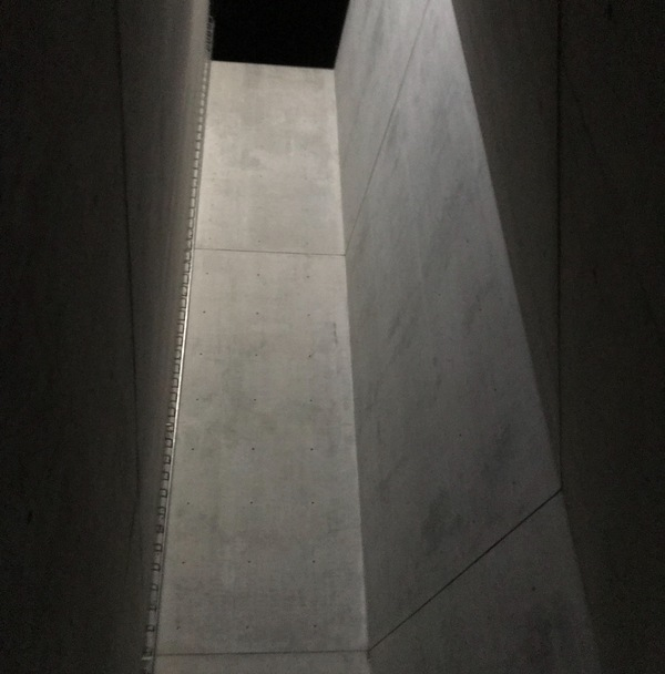 "Barren concrete walls of the Holocaust Tower with ""escape ladder"" (left) just out of reach<a href=""/reason/images/798128_orig.jpg"" title=""High res"">∝</a>"