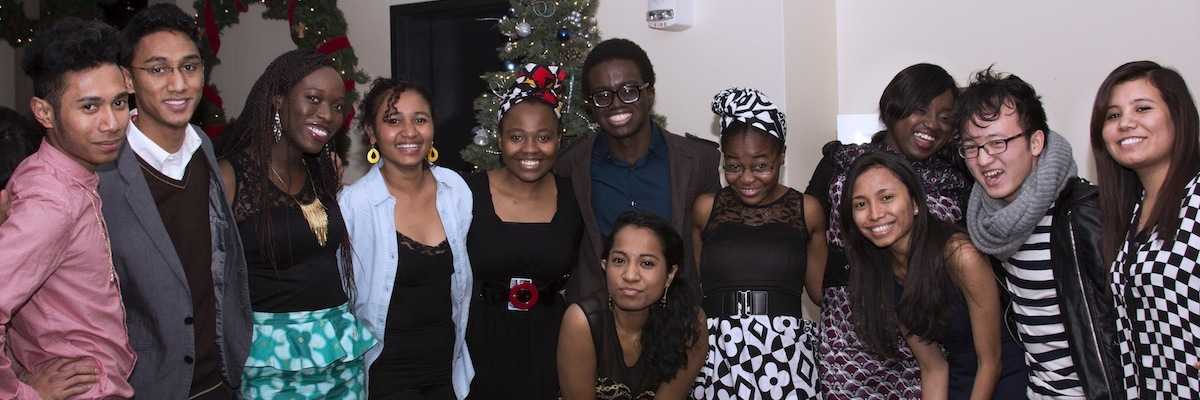 Luther students celebrate Kwanzaa together.