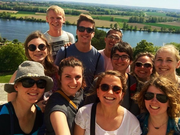 "The Münster Crew at the top of Walhalla in Regensburg.<a href=""/reason/images/704134_orig.jpg"" title=""High res"">∝</a>"