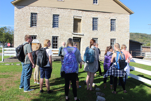 History students on a course trip to the Vesterheim Norwegian-American Museum.