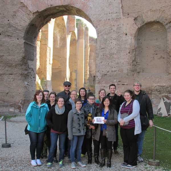 "A group shot at the Baths of Caracalla--with Percy Shelley!<a href=""/reason/images/603165_orig.jpg"" title=""High res"">∝</a>"