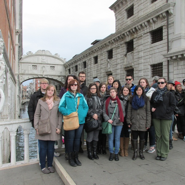 "In front of the Bridge of Sighs. Very serious business.<a href=""/reason/images/600174_orig.jpg"" title=""High res"">∝</a>"