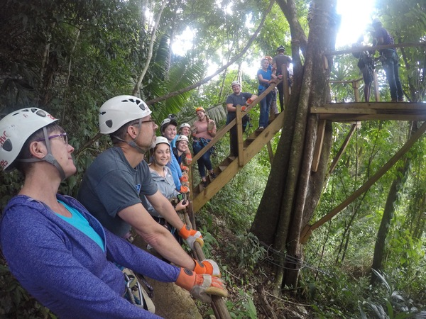 "Students eagerly wait for their opportunity to zip-line.<a href=""/reason/images/798175_orig.jpg"" title=""High res"">∝</a>"
