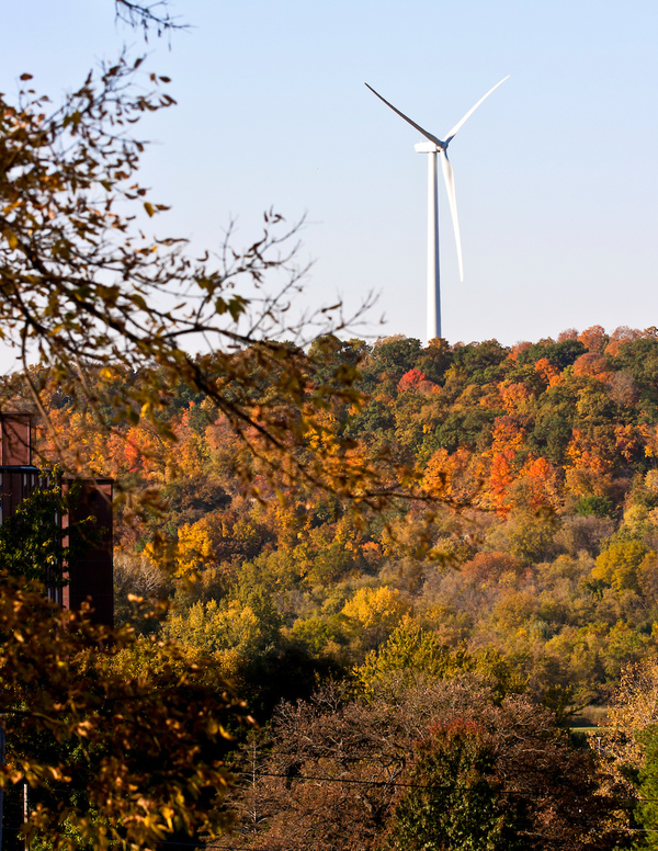 Luther College wind turbine.