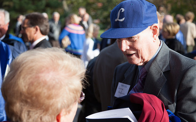 2014 Homecoming, Dr. H.G. Anderson at Dr. Carlson's inauguration