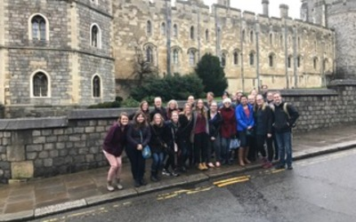 Our group outside Windsor Castle.