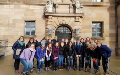 Our group outside of the Palace of Justice in Nuremberg, Germany.