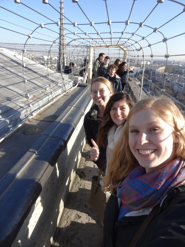 "Alex, Kalie, and I got some amazing views of the city from the top of the Notre Dame.<a href=""/reason/images/673200_orig.jpg"" title=""High res"">∝</a>"