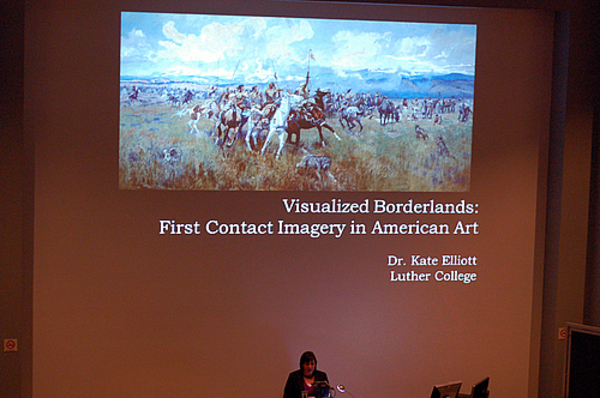 "Kate Elliott presenting ""Visualized Borderlands: First Contact Imagery in American Art"""